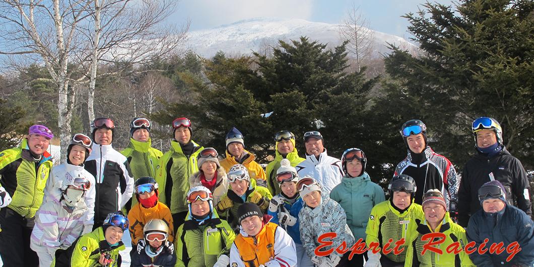 スキースクールにて